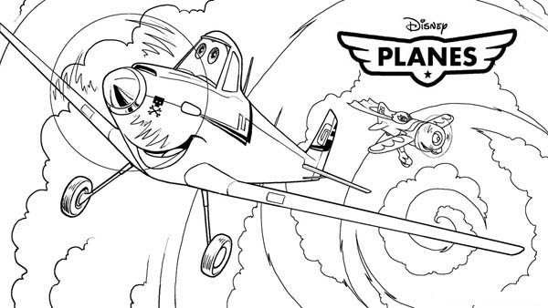 Disney Planes, : Meet Dusty Crophopper in Disney Planes Coloring Page