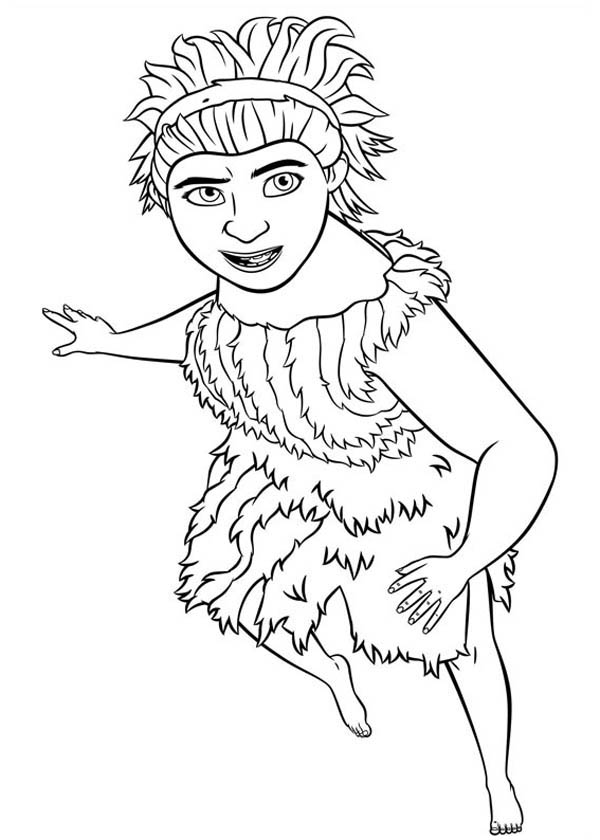 The Croods, : Meet Ugga, the First Modern Mom in the Croods Coloring Page