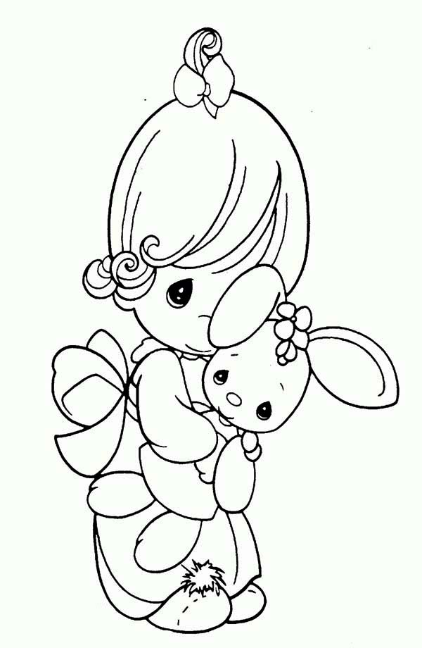 Precious Moments, : Never Let Me Go Precious Moments Coloring Page