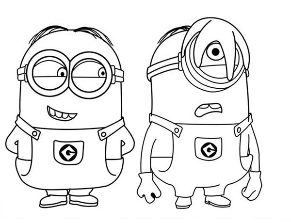 Minion   Phil and Stu Baby Minion Coloring Pages