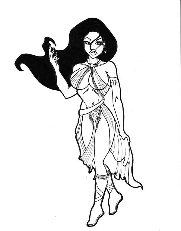 Pocahontas, : Pocahontas Best Friend Nakoma Coloring Page