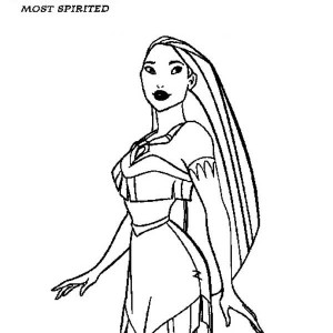 preety pocahontas coloring page - Pocahontas Coloring Pages