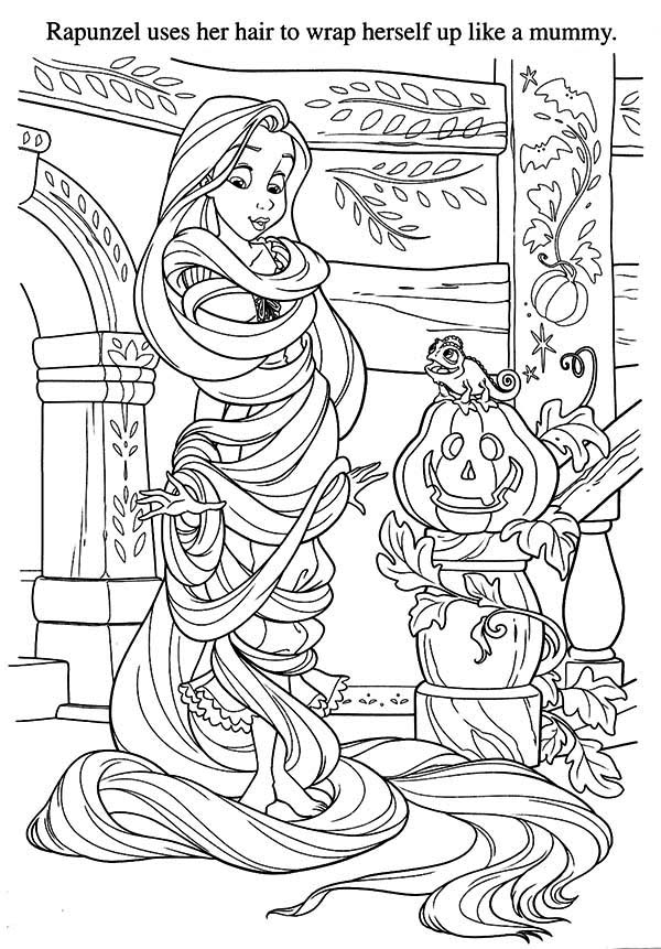 Rapunzel, : Rapunzel Long Hair Coloring Page