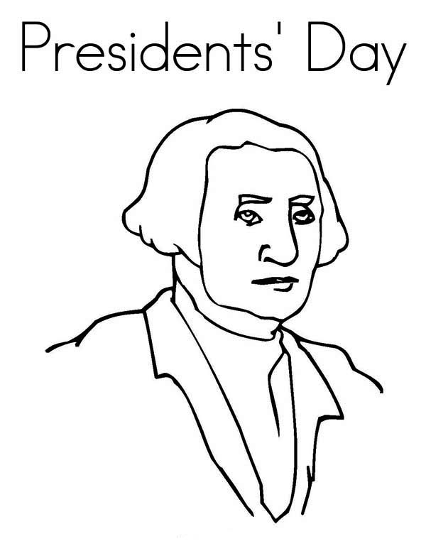George Washington, : Remembering George Washington Legacy on Presidents Day Coloring Page
