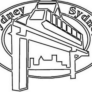 sidney monorail emblem for australia day coloring page