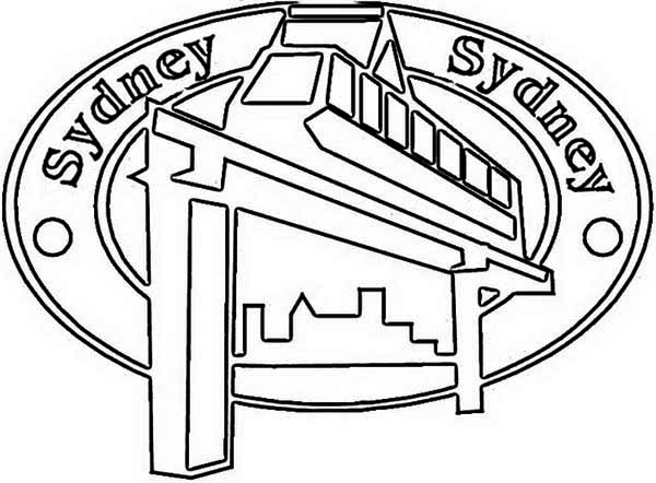 Australia Day, : Sidney Monorail Emblem for Australia Day Coloring Page