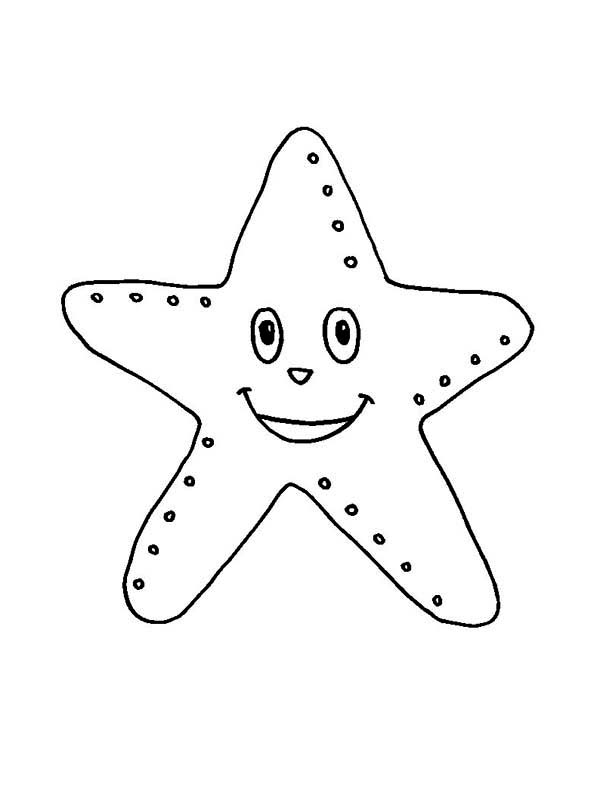 Starfish, : Starfish Laugh Coloring Page
