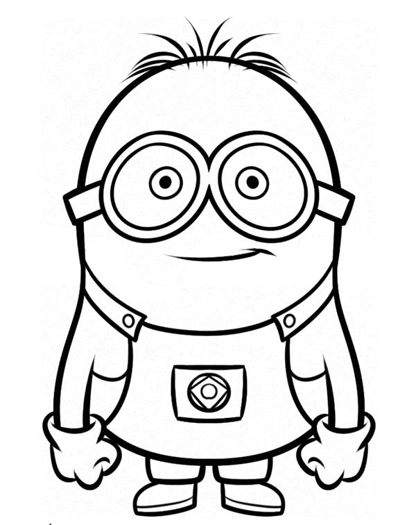 Minion, : Stuart is Ready for Adventure The Minion Coloring Page