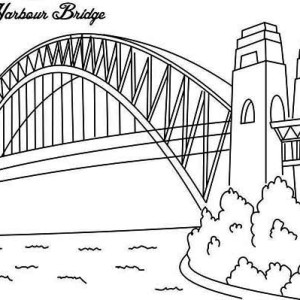 Sydney Harbour Bridge  One of Bridge Drawing For Kids