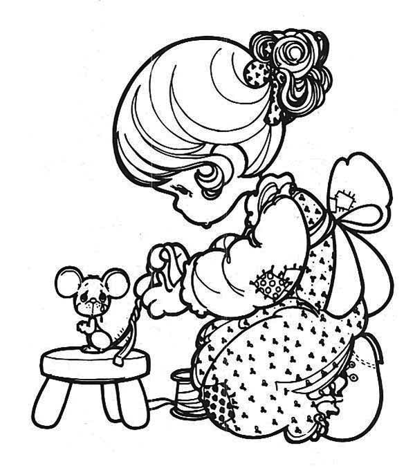 Precious Moments, : Take Care of You Precious Moments Coloring Page