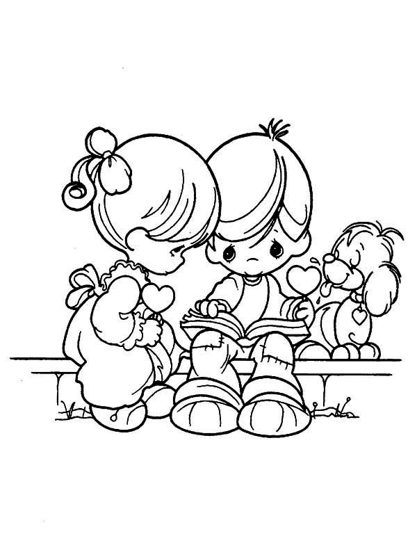 Precious Moments, : Teach Me Everything Precious Moments Coloring Page