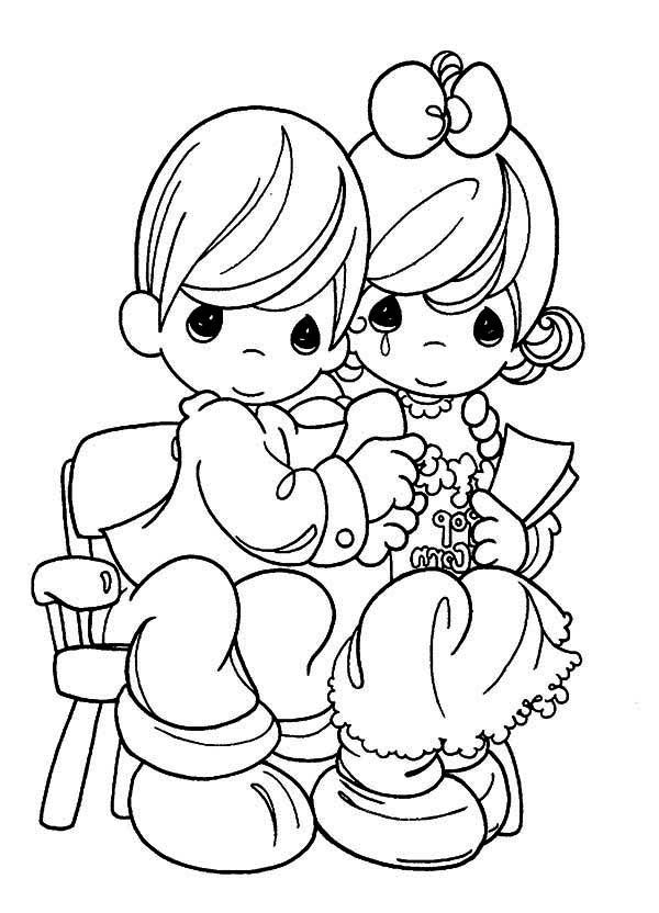 Precious Moments, : Tears of Joy Precious Moments Coloring Page