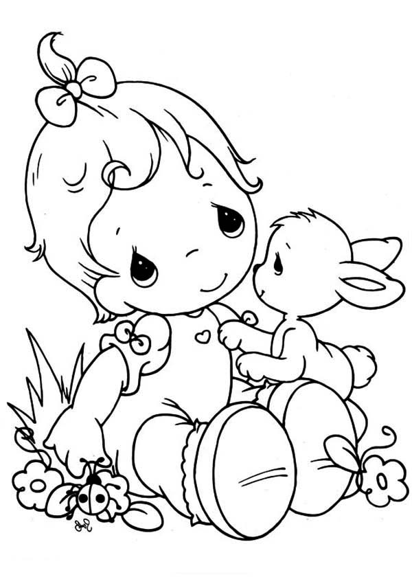 Precious Moments, : Tell Me Your Secret Precious Moments Coloring Page