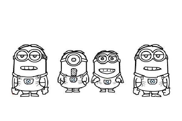 Minion, : The Avengers Minion Coloring Page