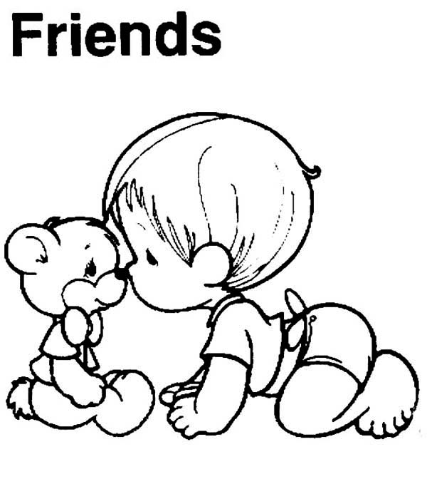 Precious Moments, : The Best Friend Precious Moments Coloring Page