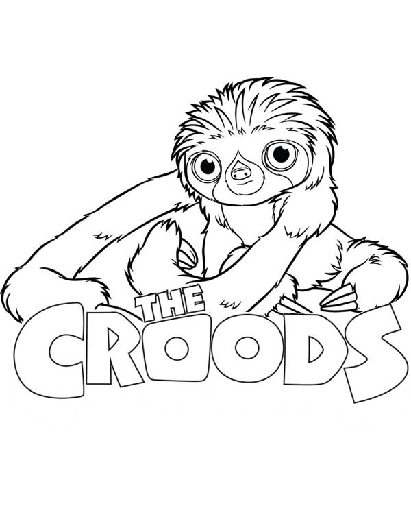 The Croods, : The Croods Movie Poster Coloring Page