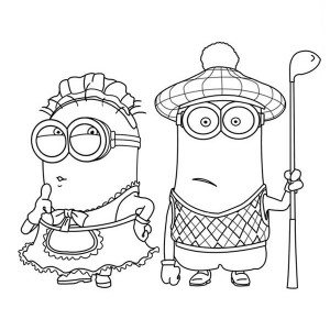 Phil Minion Coloring Page Baby Minion Coloring Pages