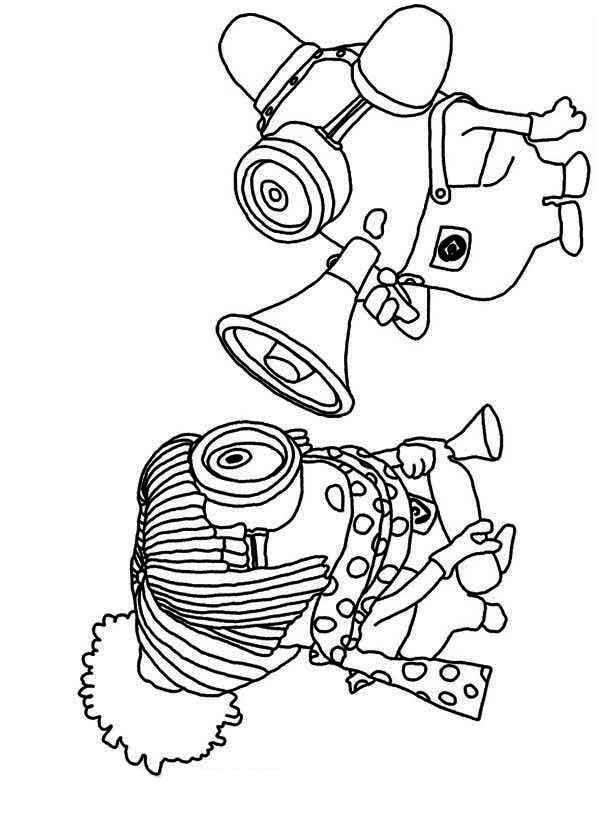 Minion, : The Minion Poster Coloring Page