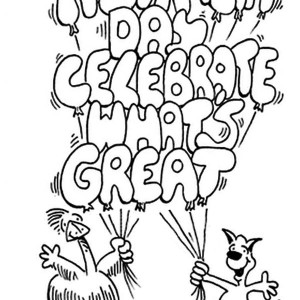 these two pals celebrating australia day coloring page