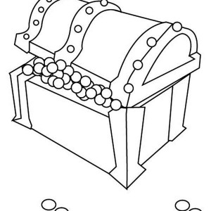 treasure chest full of pearls coloring page