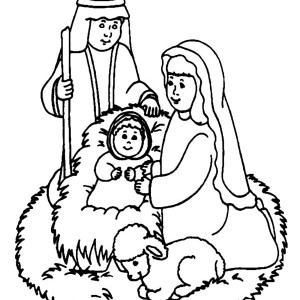 adore baby jesus coloring page - Mary Baby Jesus Coloring Page