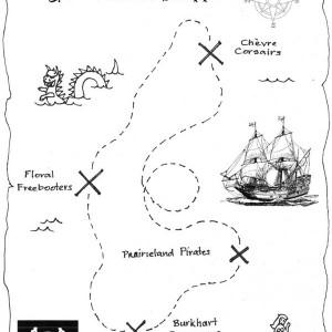 adventurous treasure map coloring page