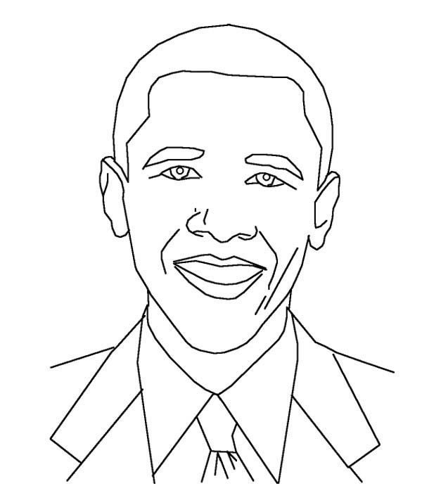 Barack Obama, : Amazing Barack Obama Coloring Page