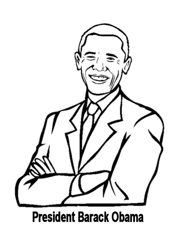 Barack Obama, : Awesome Barack Obama Coloring Page