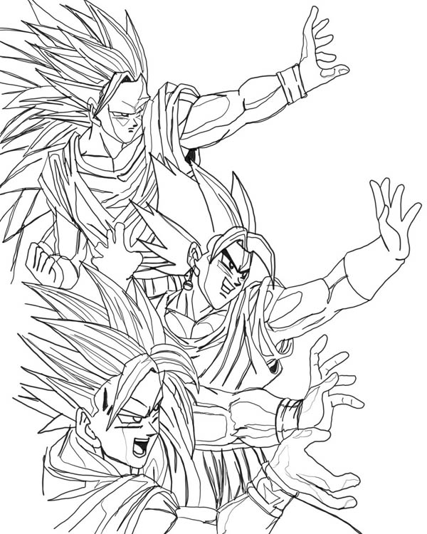 Dragon Ball Z, : Awesome Dragon Ball Z Coloring Page