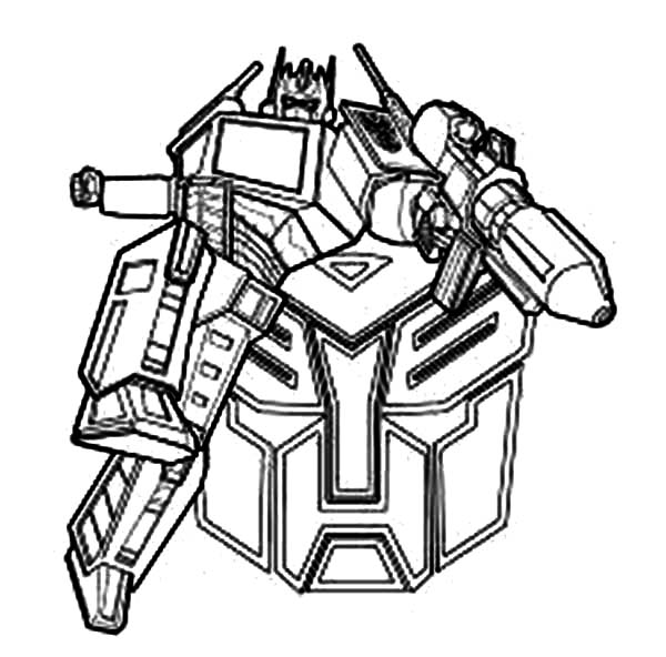 Transformers, : Awesome Optimus Prime Drawing inTransformers Coloring Page