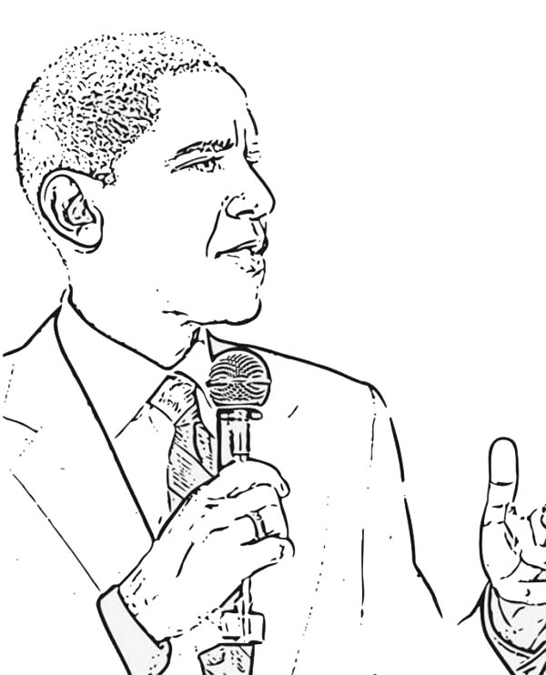 obama coloring pages - photo #40