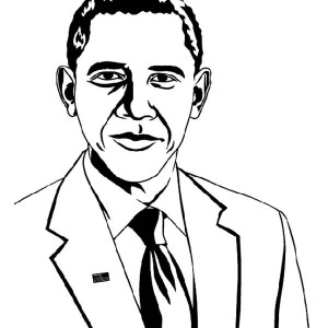 Barack Obama President of The United States of America Coloring