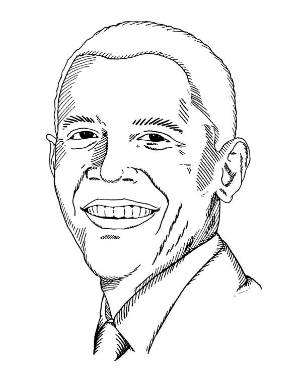 Barack Obama Coloring Pages Perfect Black History Month Coloring