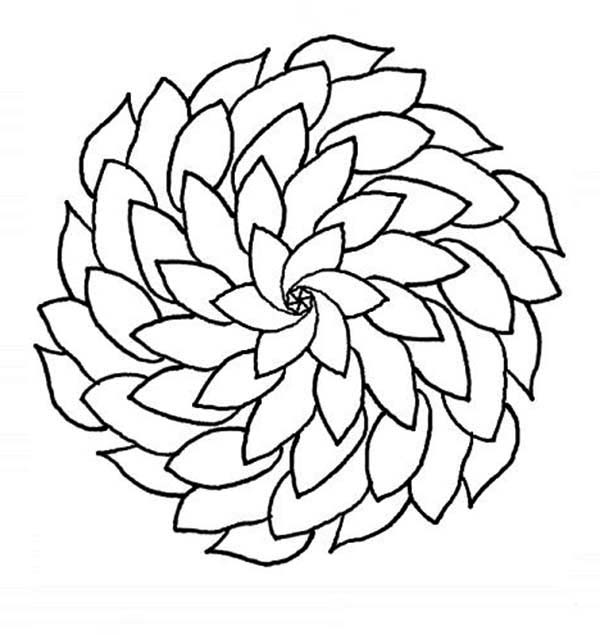 beautiful mandala flower coloring page