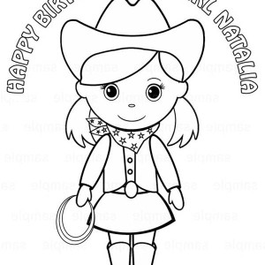 birthday cowgirl coloring page - Cowboy Cowgirl Coloring Pages