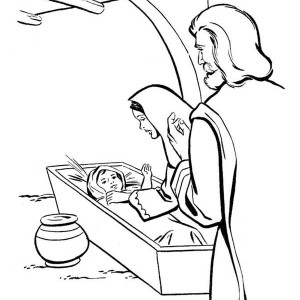 born of baby jesus in bible coloring page