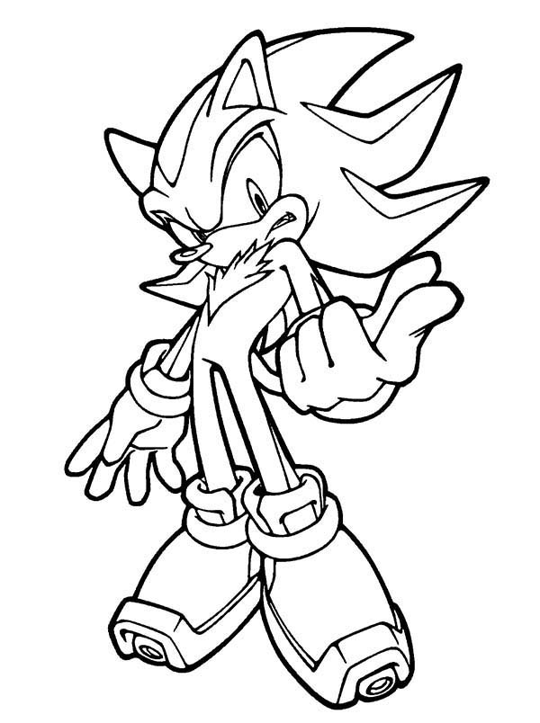 Sonic the Hedgehog, : Cool Sonic Coloring Page