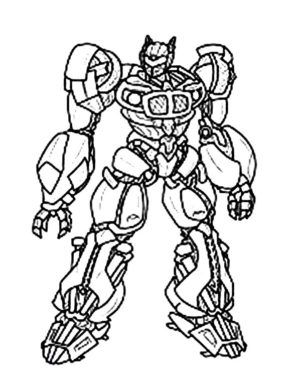 Transformers, : Epic Bumblebee in Transformers Coloring Page