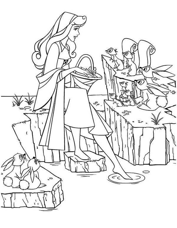 Princess Aurora, : Everybody Love Princess Aurora Coloring Page
