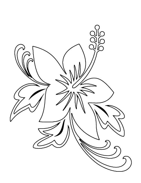 Flower Tattoo Coloring Page | Kids Play Color