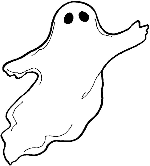 Ghost, : Flying Ghost Coloring Page