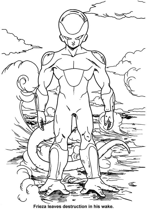 Dragon Ball Z, : Frieza Final Form in Dragon Ball Z Coloring Page