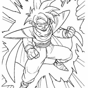 little gohan in dragon ball z coloring page little gohan in - Super Saiyan Gohan Coloring Pages