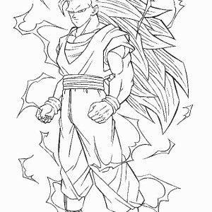 Dragon ball z color page cartoon characters coloring pages color