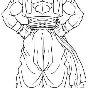goku super saiyan 4 form in dragon ball z coloring page - Coloring Pages Dragon Ball Goku