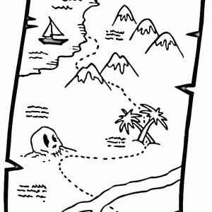 great pirate treasure map coloring page