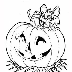 halloween pumpkins and dracula mouse coloring page - Halloween Pumpkins Coloring Pages