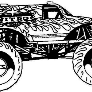 hot wheel monster truck coloring page - Grave Digger Truck Coloring Pages