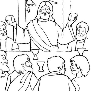 jesus in the last supper coloring page