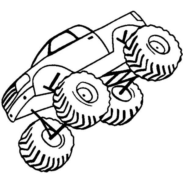 jumping monster truck coloring page - Space Jam Monstars Coloring Pages